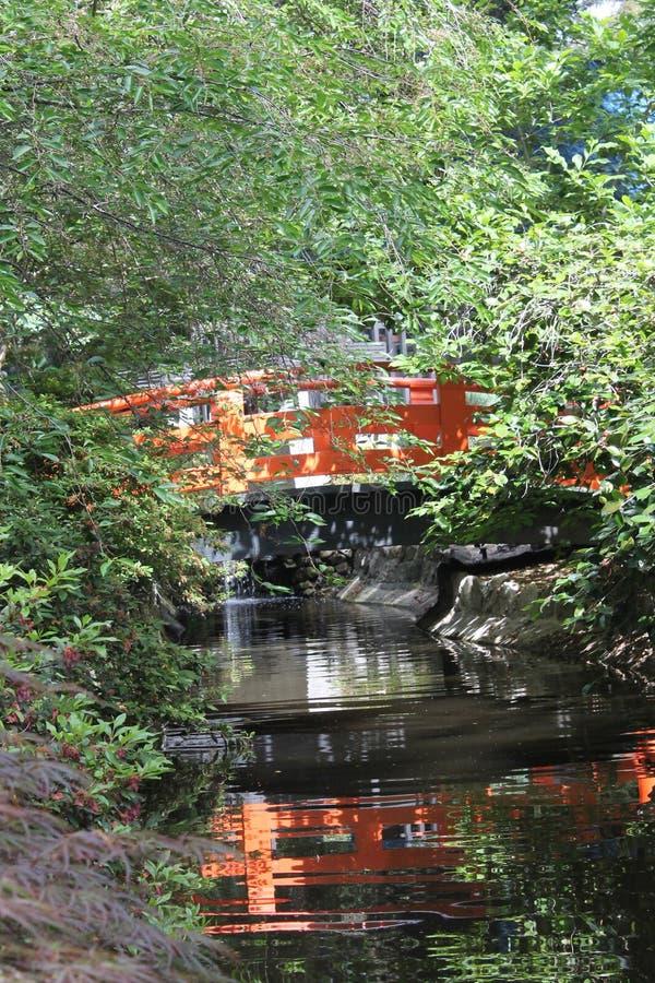 Затеняемое отражение моста стоковое фото