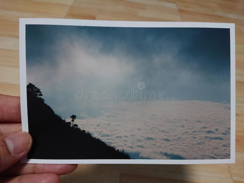Затеняйте холм ‹&â€, Doi Luang Chiang Dao - ‹Таиланд †стоковое изображение rf
