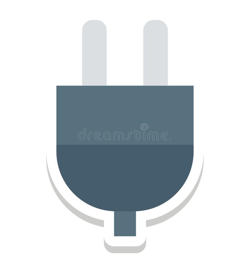 Заткните, изолированные штепсельной вилкой значки вектора смогите быть доработайте с любым стилем бесплатная иллюстрация
