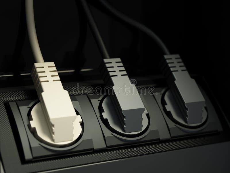 Заткнутые провода стоковая фотография