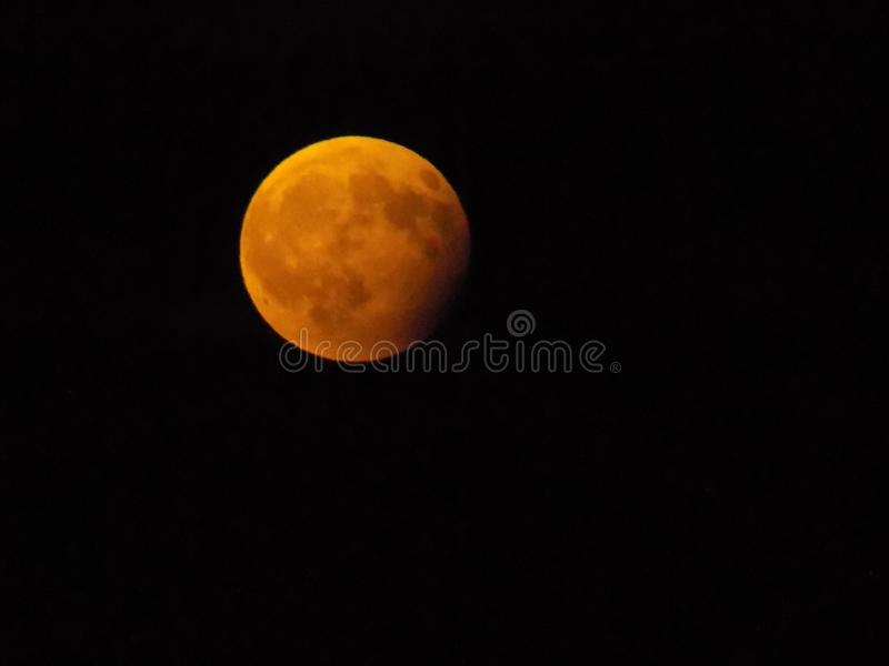 Затмение 7-ое августа 2017 луны стоковые изображения