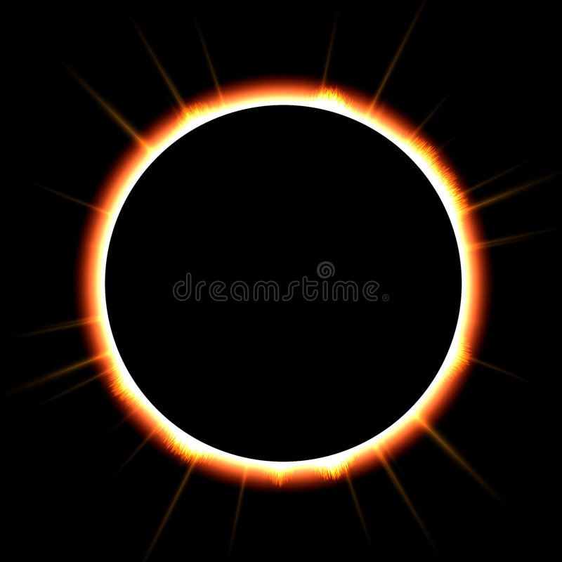 затмение солнечное иллюстрация вектора