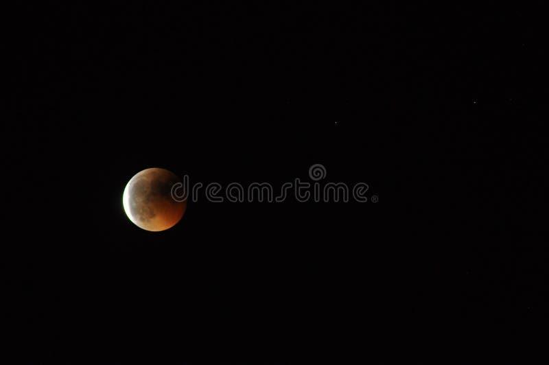 Затмение луны стоковые фото