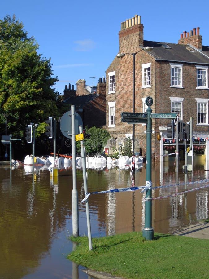 Затопленная улица города Йорк стоковое фото