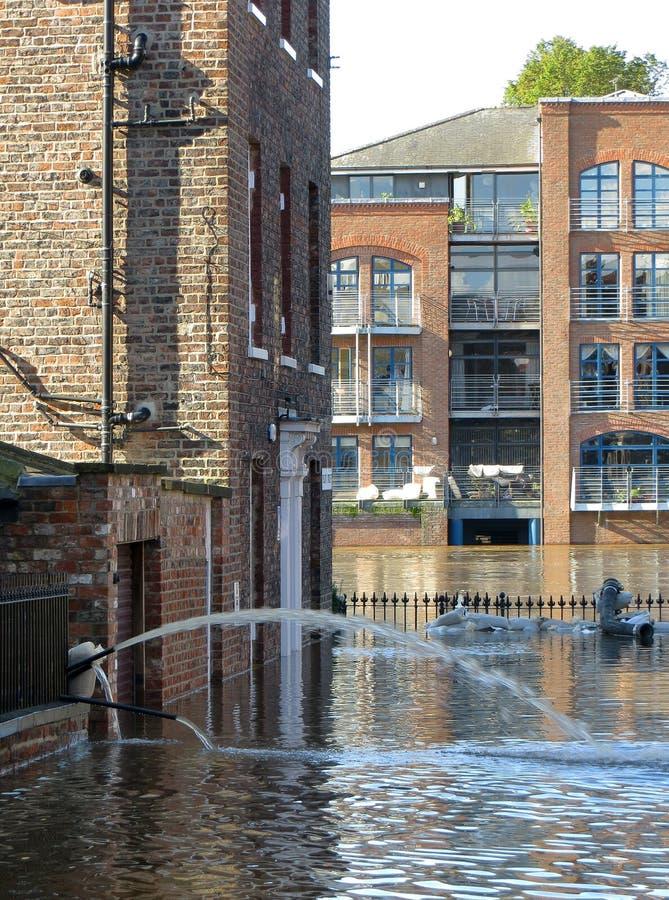 Затопленная улица города Йорк стоковые изображения