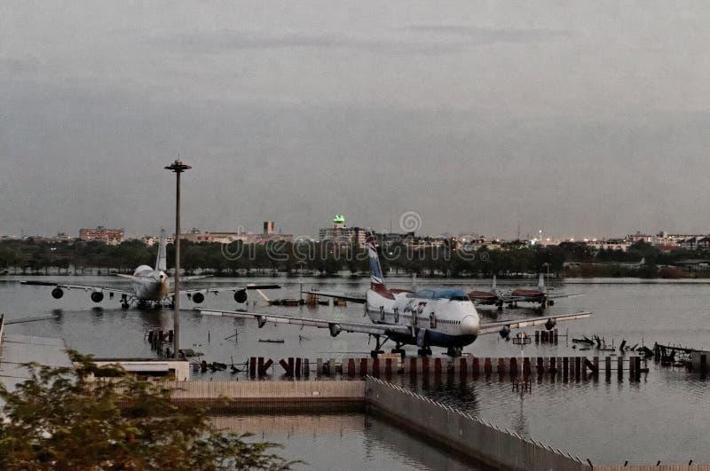 затопленные самолеты стоковое изображение rf