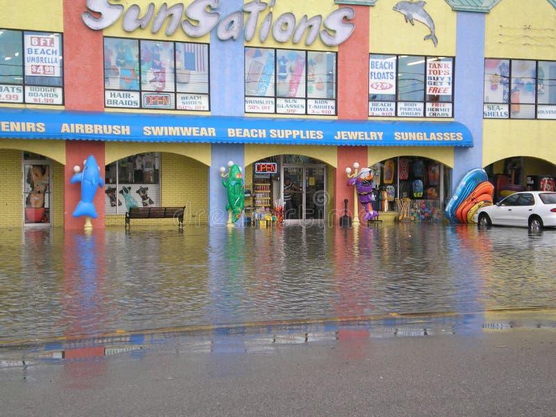 Затоплять Флориды пляжа Панама (город) тяжелый стоковое фото