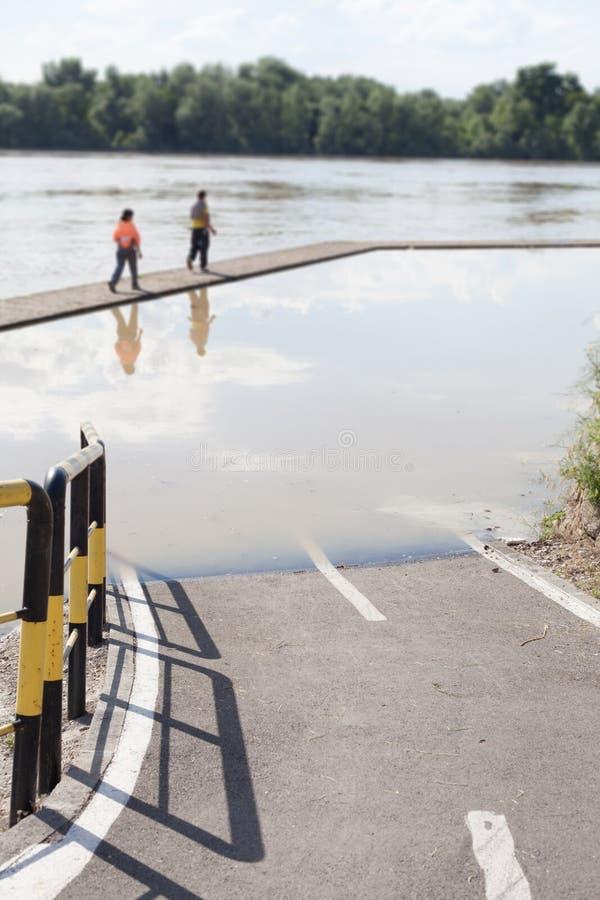 затопленная дорога стоковое фото