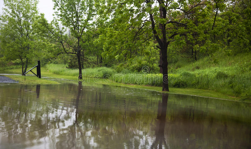 Затопленное место для стоянки стоковая фотография rf