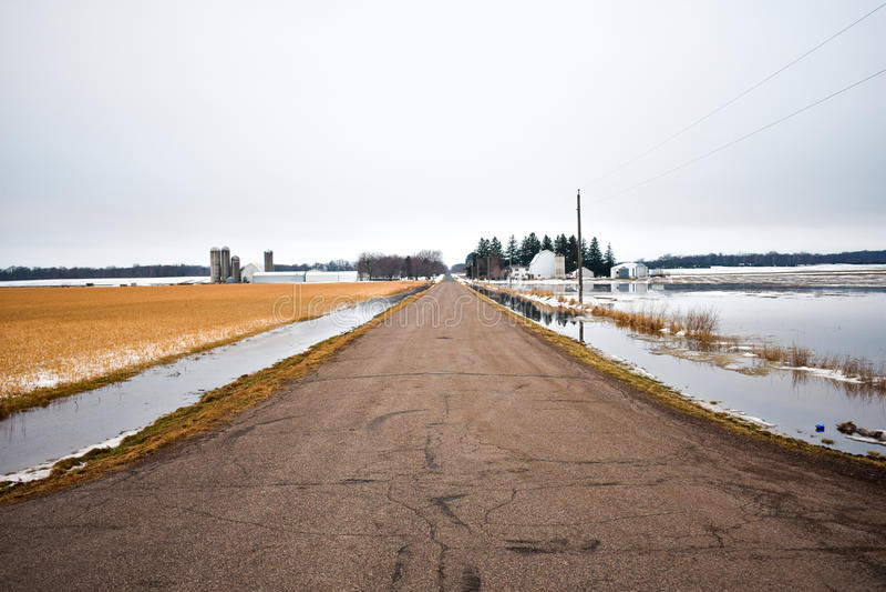 затопленные поля стоковое фото