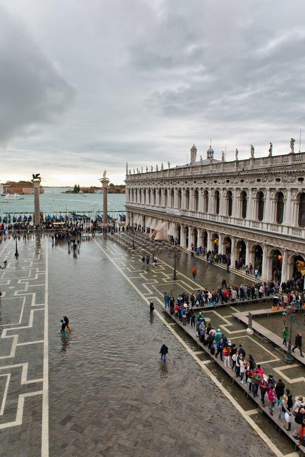 Затопленный St отметит квадрат в Венеции, Италии стоковые изображения