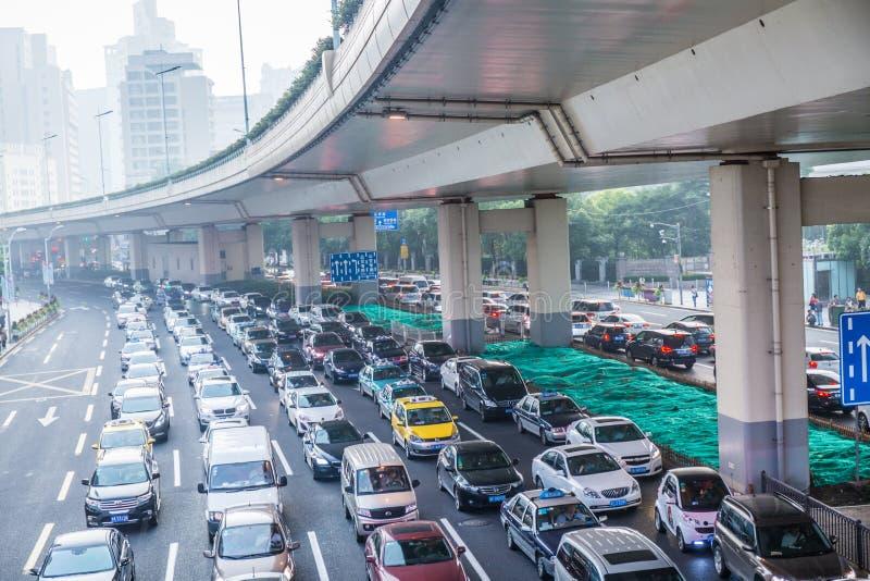 Затор движения Азии стоковые фото