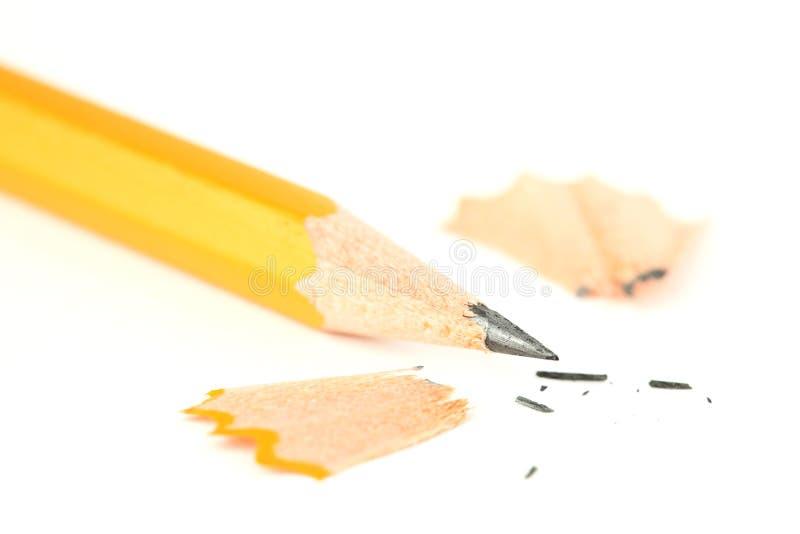 Заточенный крупный план карандаша стоковое изображение rf