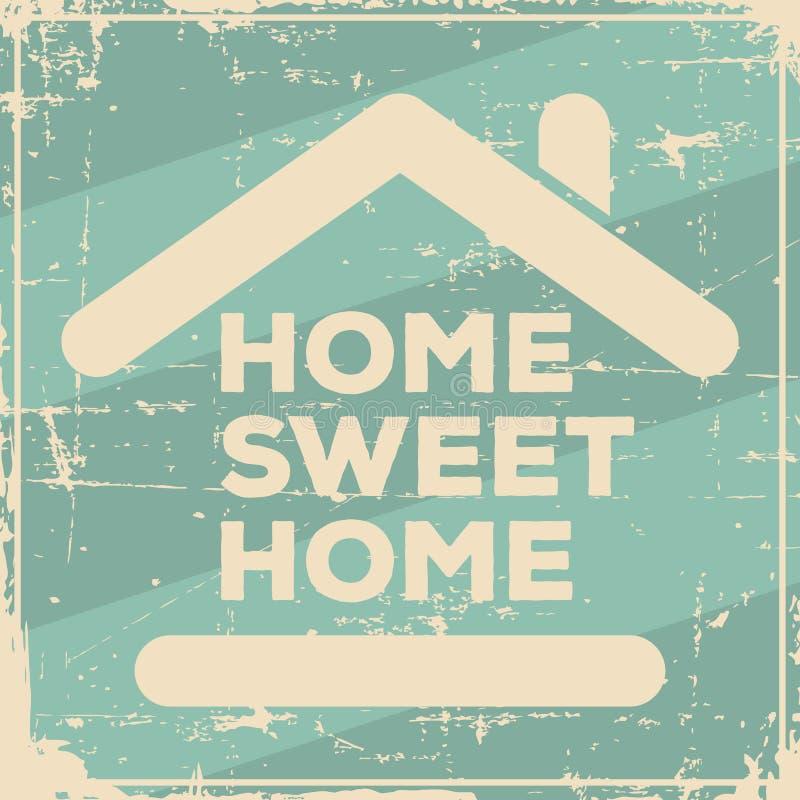 Затрапезное домашнего сладостного домашнего Signage винтажное ретро бесплатная иллюстрация