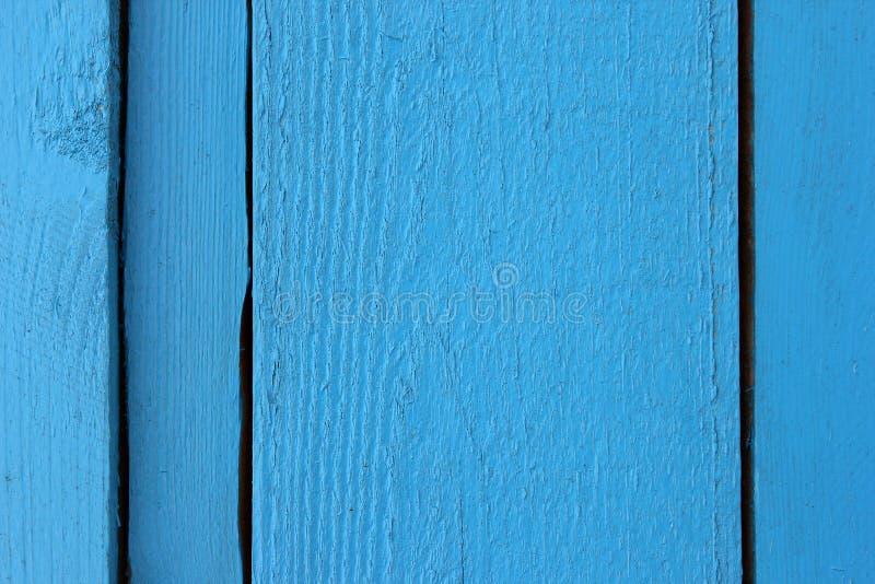 Затрапезные деревянные планки покрасили голубой крупный план краски как текстура стоковые фотографии rf