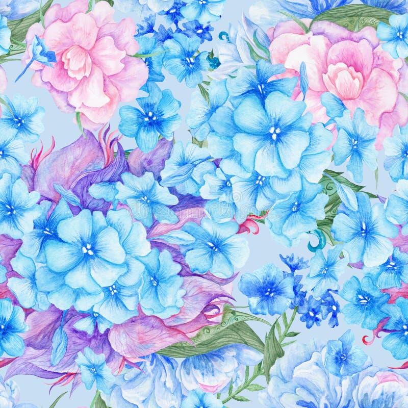 Затрапезный шикарный винтажный романтичный цветочный узор бесплатная иллюстрация