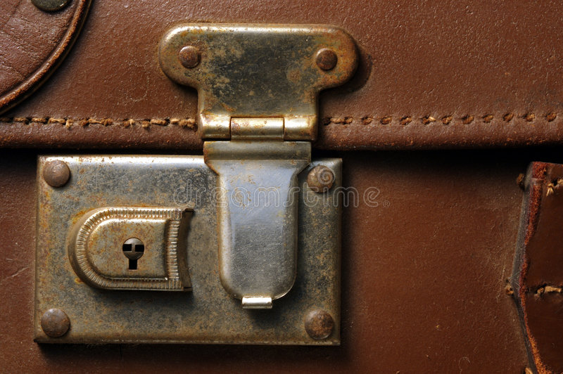 зафиксируйте чемодан стоковое фото