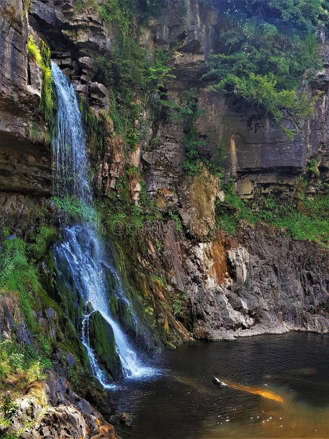 Захват водопада Thornton Англия стоковые фото