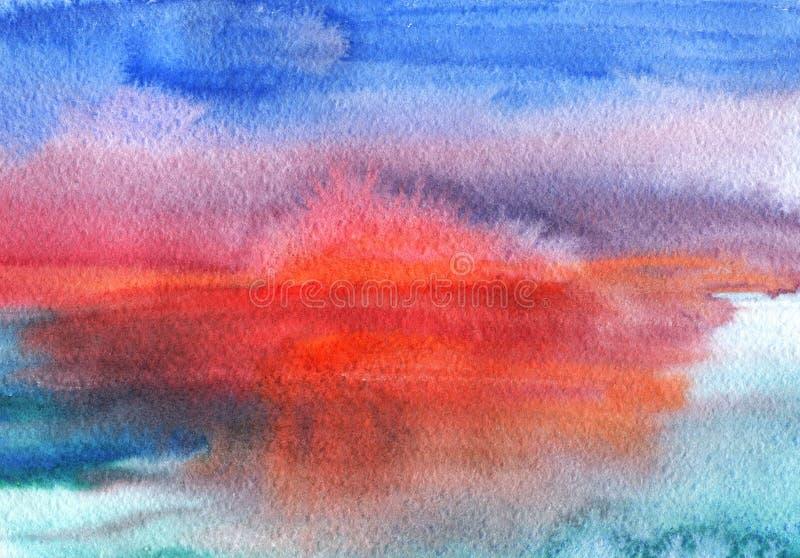 Заход солнца акварели бесплатная иллюстрация