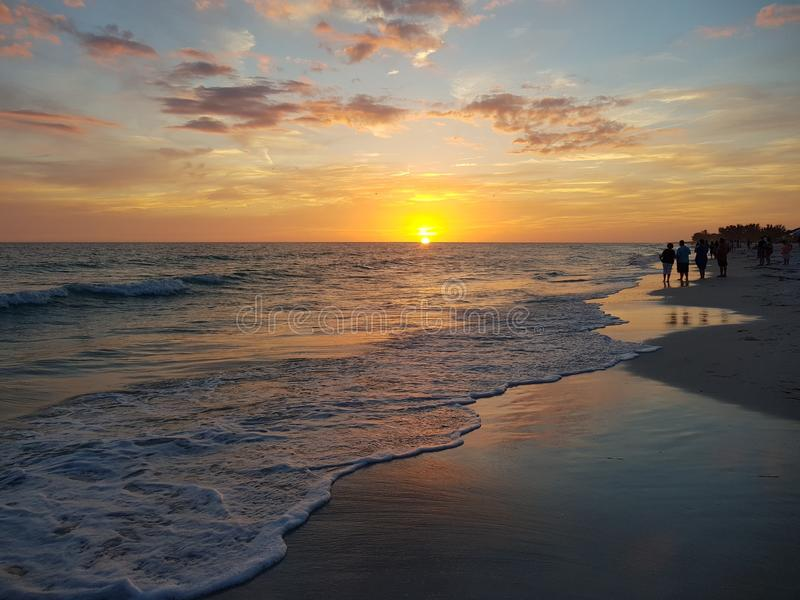 Заход солнца Анны Марии стоковое фото