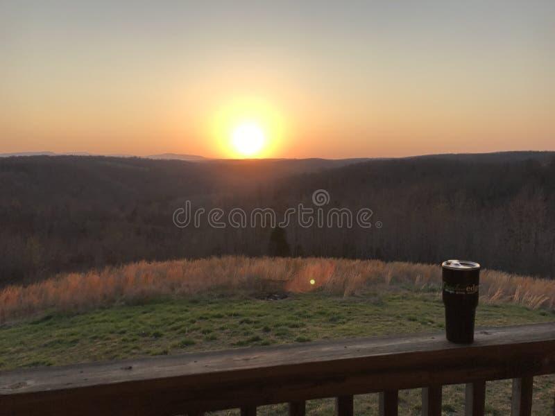 Заход солнца Арканзаса стоковая фотография