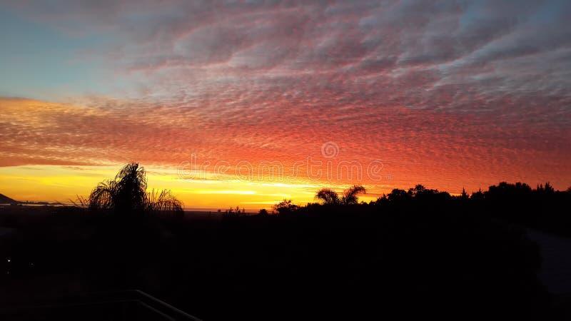 заход солнца Африки южный стоковое изображение