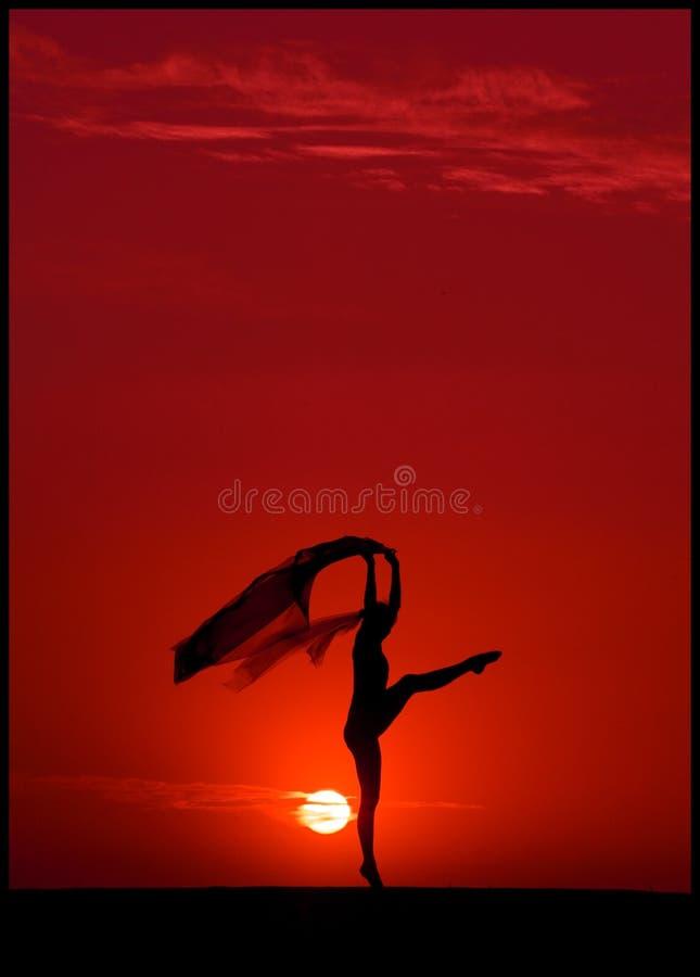 заход солнца балета стоковые изображения rf