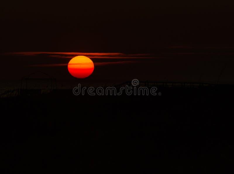 заход солнца Балтийского моря предпосылки стоковые фото