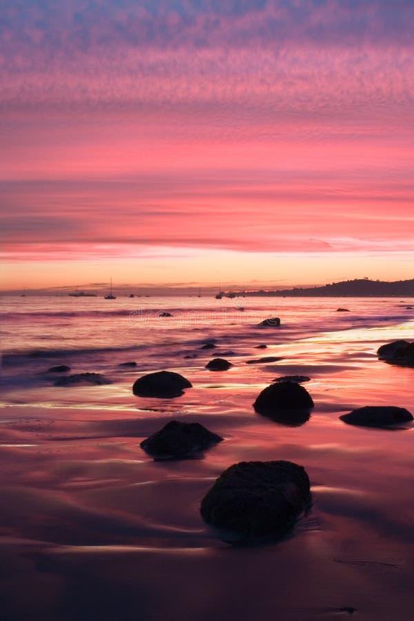 заход солнца Барвары santa стоковое изображение