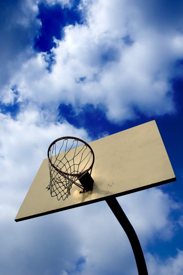 заход солнца баскетбола стоковые изображения