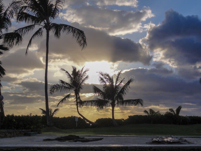 Заход солнца бухта рая стоковая фотография rf
