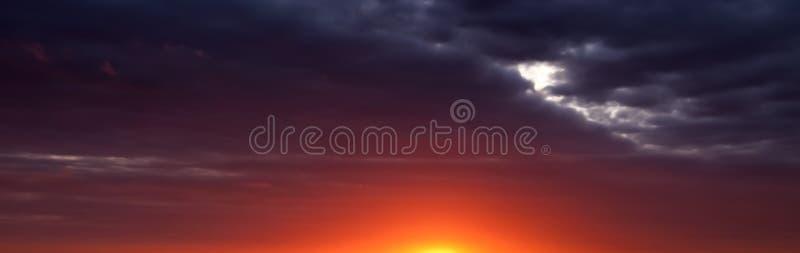 заход солнца восхода солнца абстрактной панорамы знамени панорамный бесплатная иллюстрация