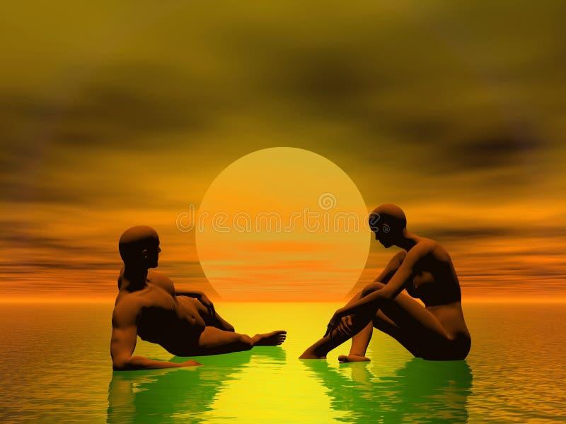 заход солнца восхода солнца тропический Стоковые Изображения RF