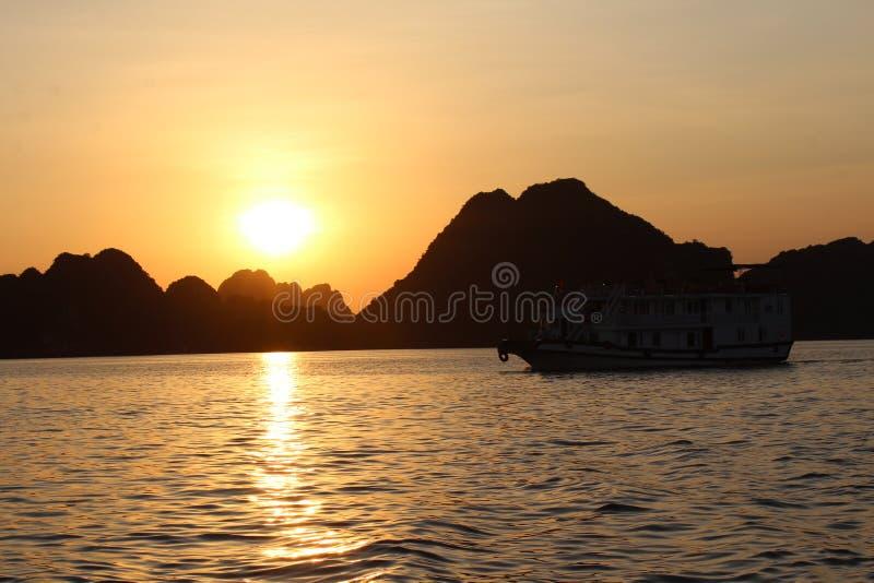 заход солнца Вьетнам стоковая фотография