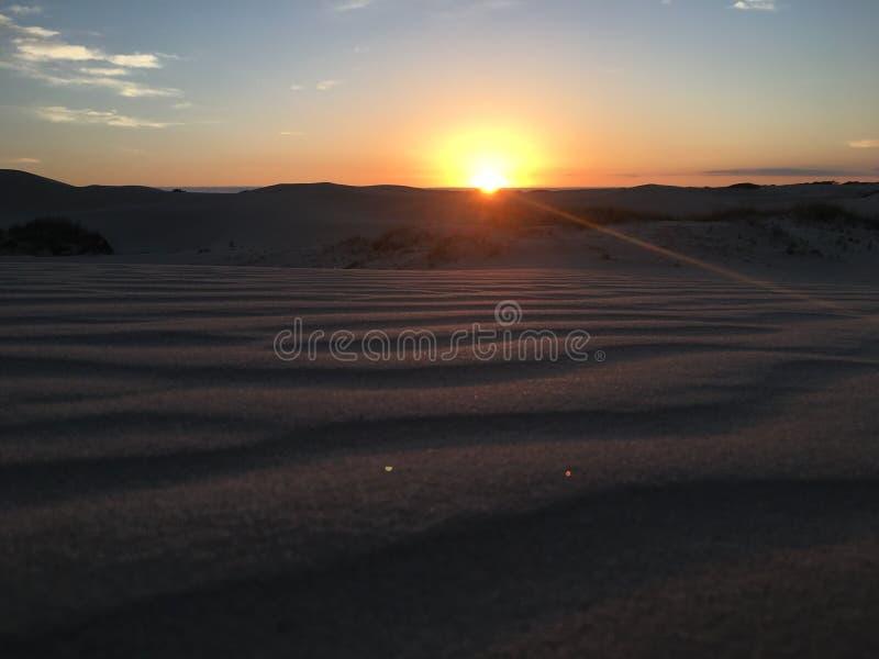 Заход солнца в десерте стоковая фотография