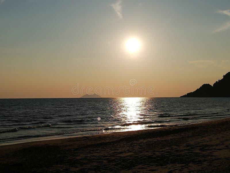 Заход солнца в Италии стоковое изображение
