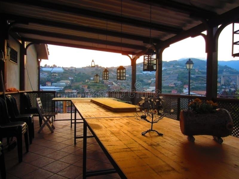 Заход солнца в Сан Remo стоковое фото rf