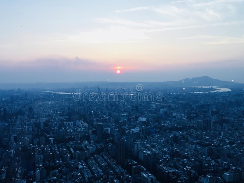 Заход солнца в Тайване стоковое изображение rf