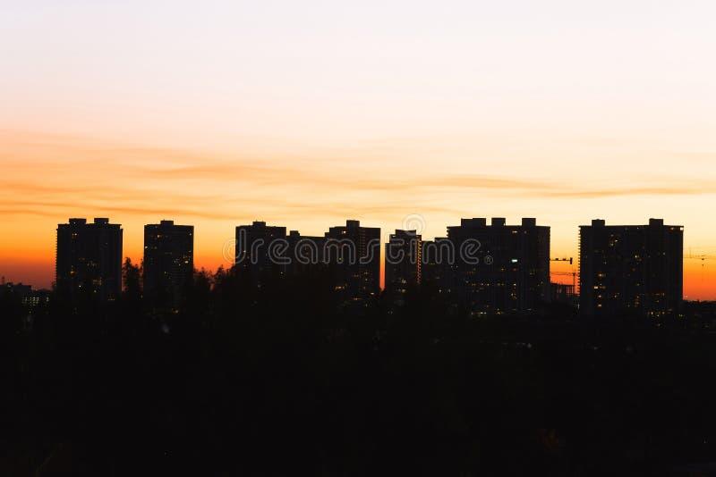 Заход солнца в Aventura стоковое изображение rf