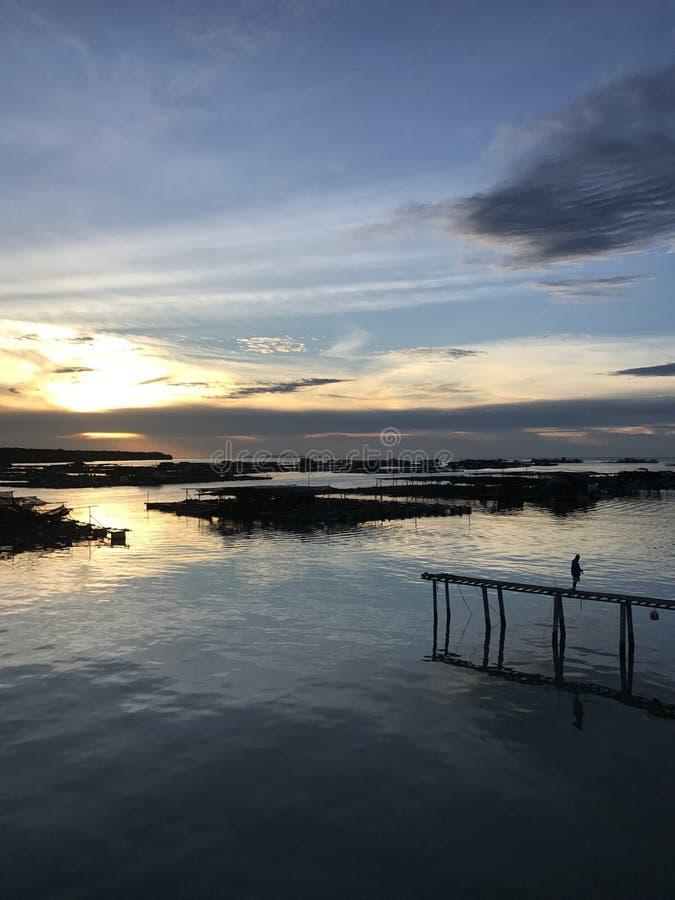 Заход солнца в Kukup стоковое изображение rf