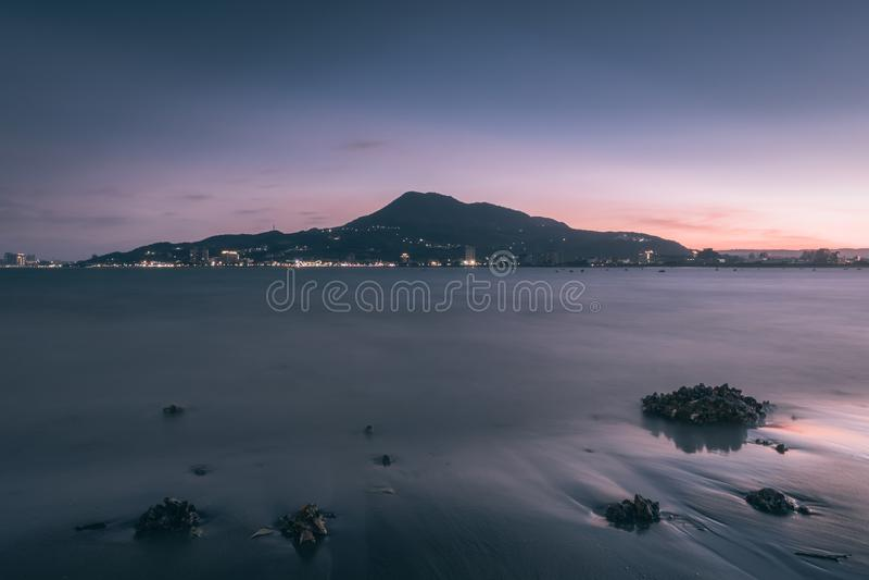 Заход солнца в Tamsui стоковые изображения rf