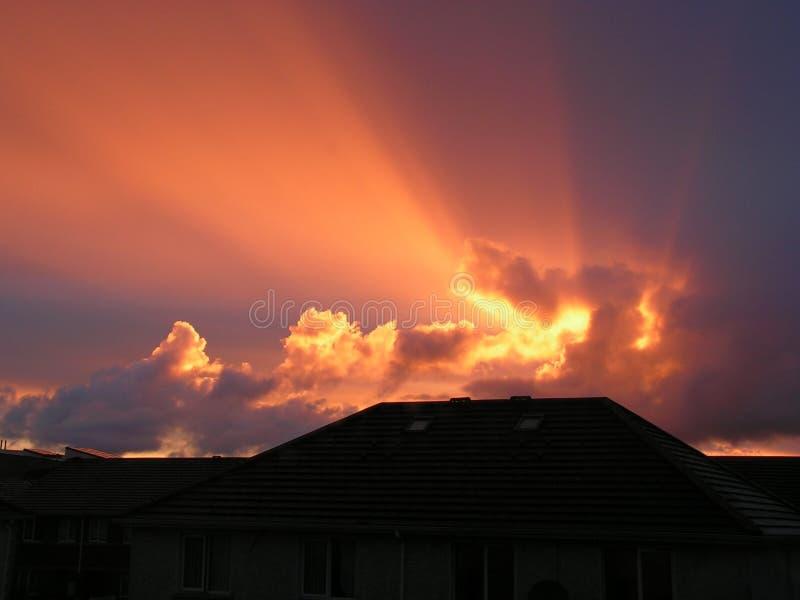 Заход солнца Голуэй стоковая фотография