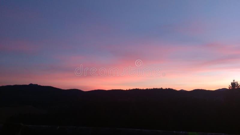 Заход солнца, гора стоковые фото