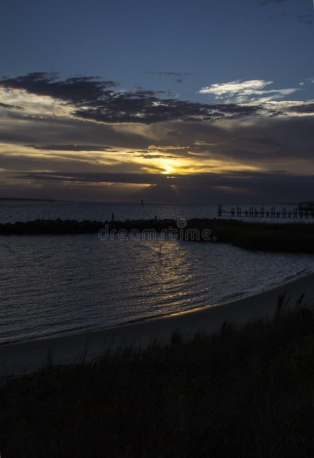 Заход солнца города Morehead стоковое фото
