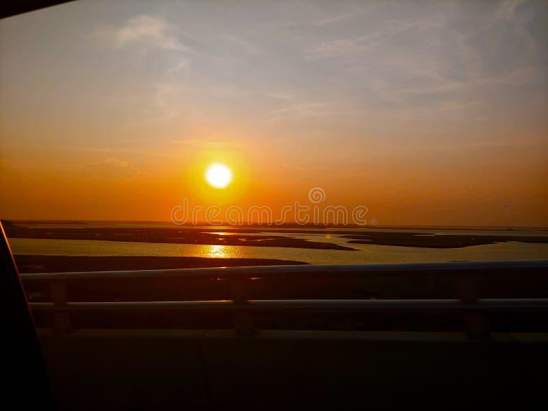 Заход солнца Ирландии стоковая фотография rf