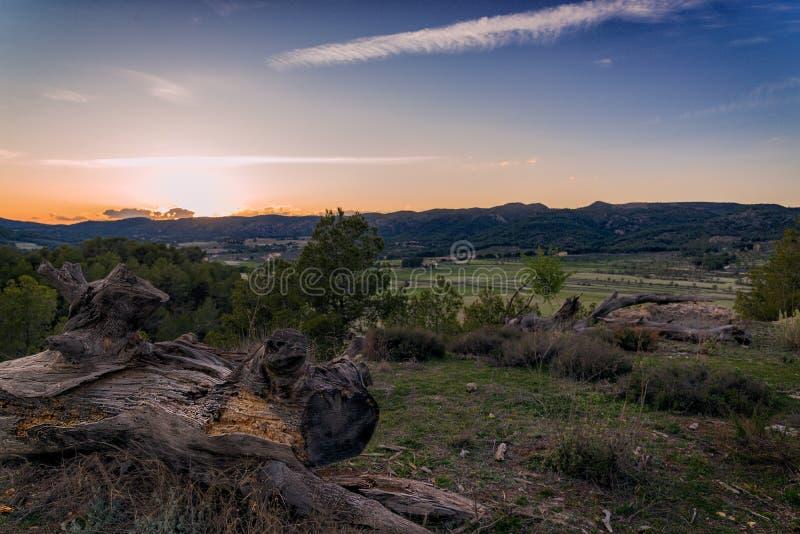 заход солнца Испании стоковые фотографии rf