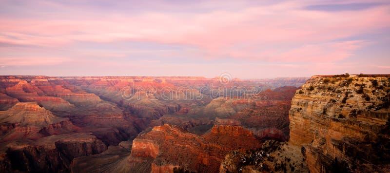 заход солнца каньона грандиозный стоковое изображение rf
