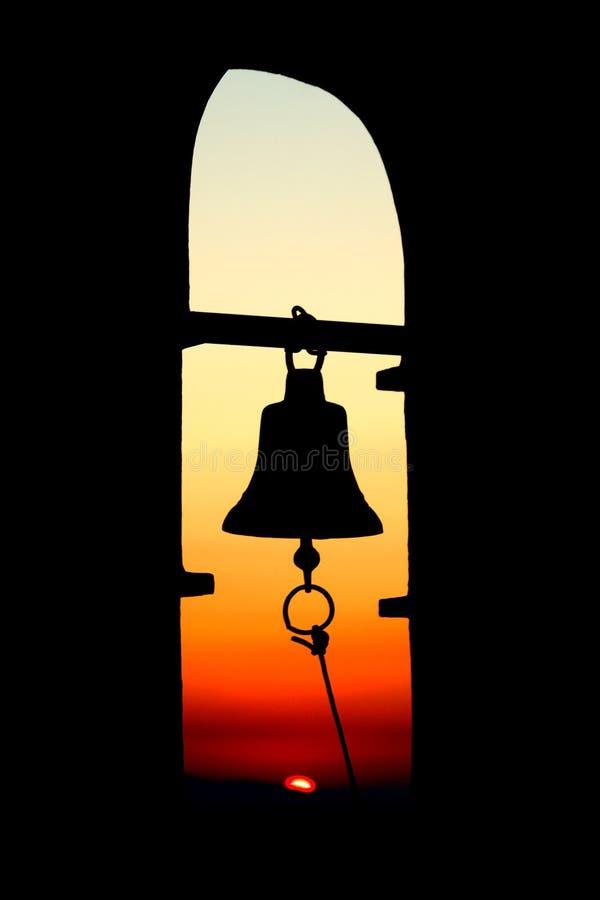 заход солнца колокола стоковое изображение rf