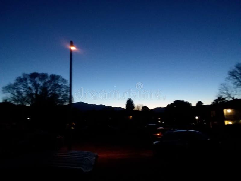 Заход солнца Колорадо стоковое изображение