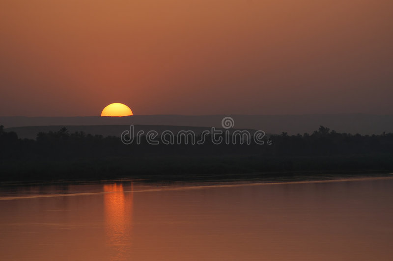 заход солнца конца Стоковая Фотография RF